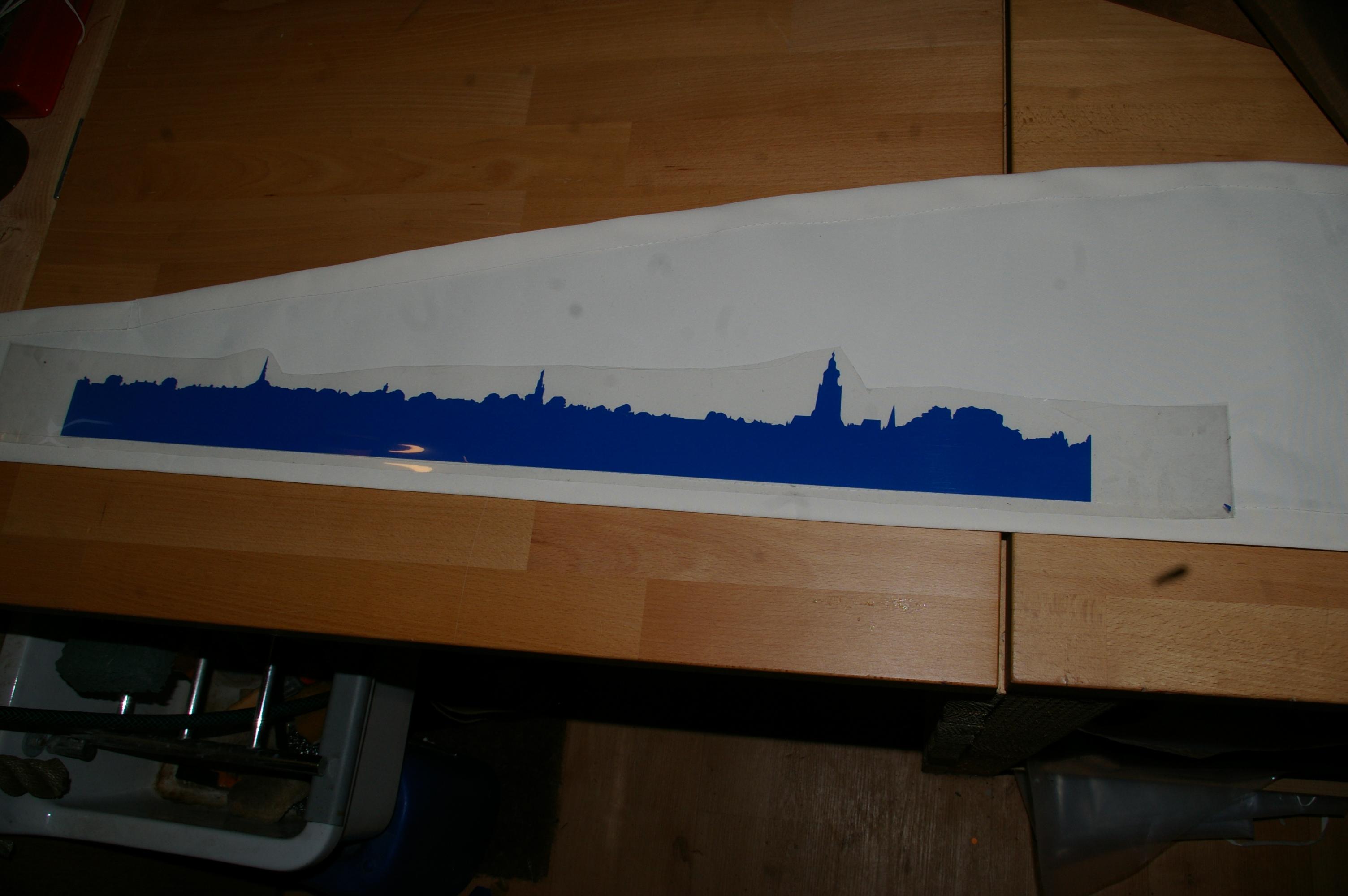 Kuster zeil fietskar met skyline Zutphen (5)
